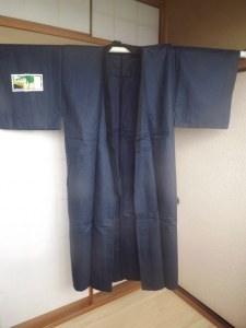 Kimono H navy blue L