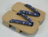 Men's Geta - white wood - 2 sizes L, LL