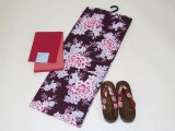 Women's set, yukata obi geta