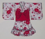 Red Yukata dress