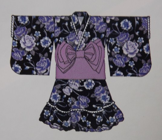 Yukata dress violet